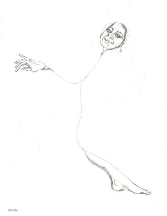 Susanne Neubauer to Silva Reichwein (a sort of self-portrait) Pencil on paper, 8.27 x 11.69 inch